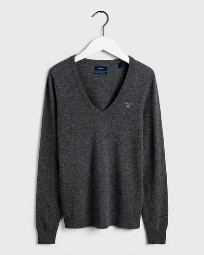 Extrafine Lambswool V-neck -neule
