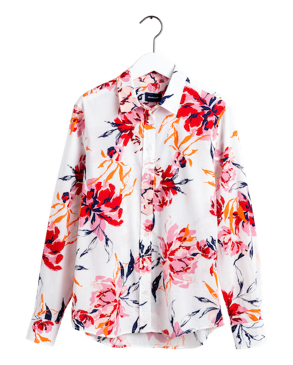 Gant Peonies Cotton Voile Shirt