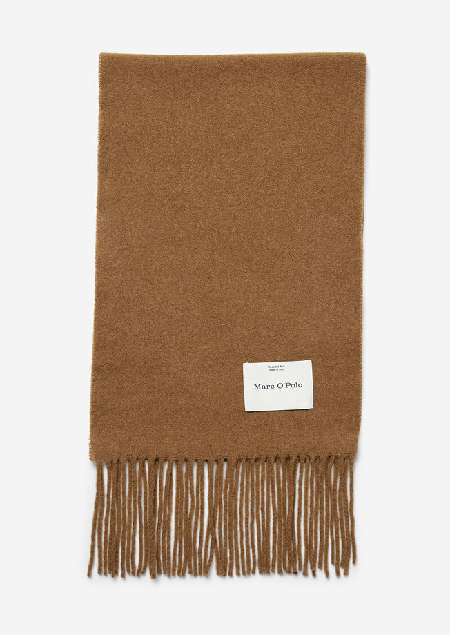 Marc O'Polo Scarf Woven Wool chestnut brown