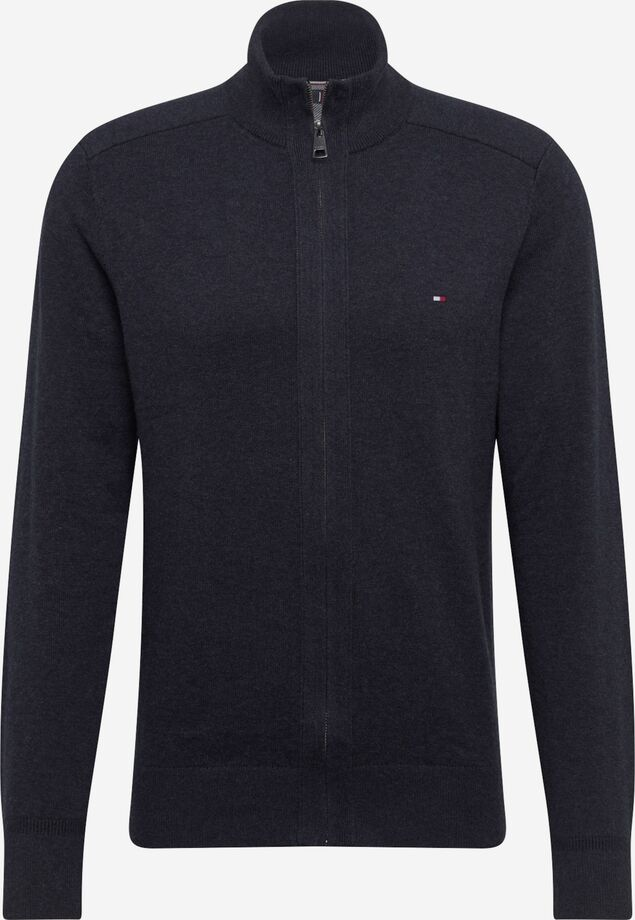 Pima Cotton Cashmere Zip harmaa